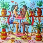 gay art homosexual couple love painting male men man paintings