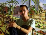 amir diner visit raphael perez art studio naive paintings israel