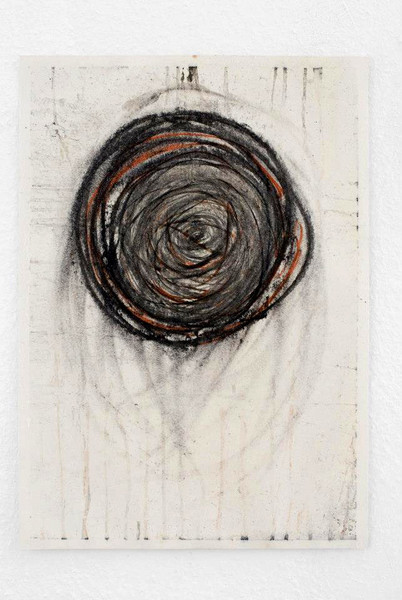 Black hole, 2009  Charcoal, sanguine