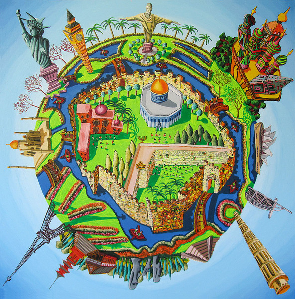naive paintings art raphael perez city ball cities painting site
