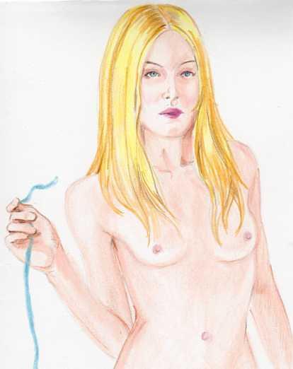Blue ribbon girl