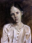 Portrait of a Young Girl in a White Blouse