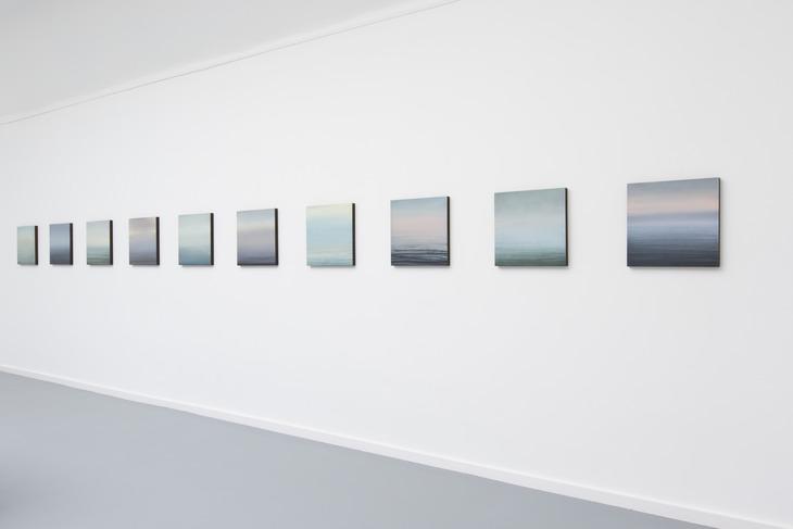 Seenebel, 2014, Painting, acrylic on cotton, each 40 x 40 cm