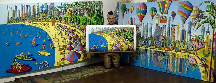 rapheal perez naive paintings print assaf henigsberg modeling