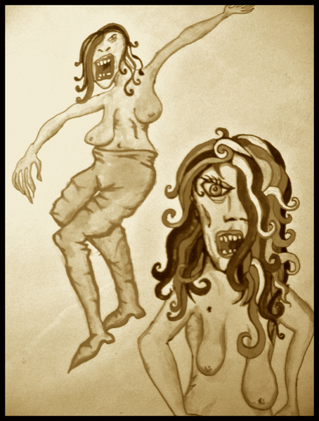 Angry Ladies on A Screaming Rampage of Bloodlust by MushroomBrai