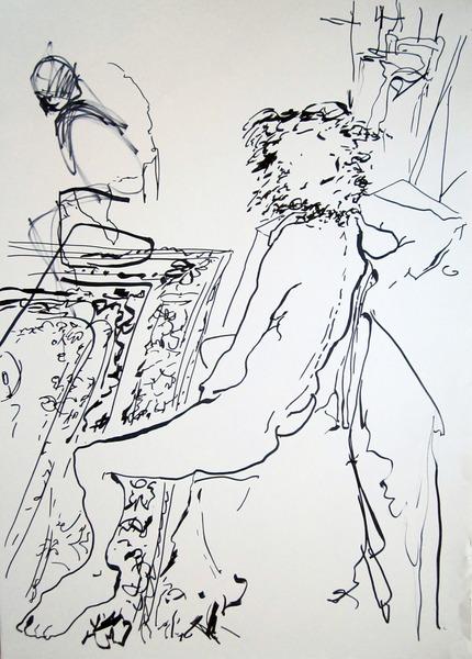 seated nude #614