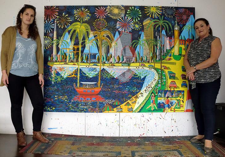 naive paintings art raphael perez israeli painter tel aviv paint