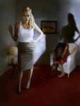 Two Postmodern Women,  a Self Portrait