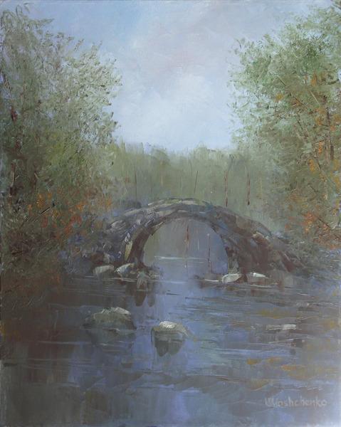 Old bridge in autumn