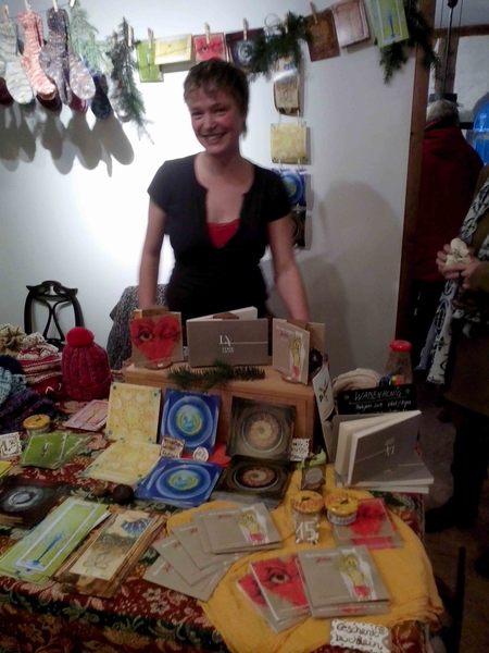 Rundum zufriedene Marktfrau