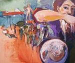 ''footnotes'' ,40x55cm,2014,acrylic on canvas