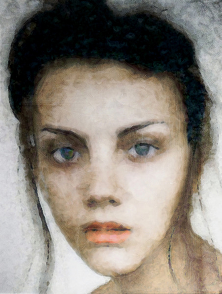 Girl with pearl eyes