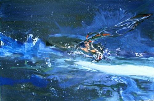 Nachtsurfer Gischt