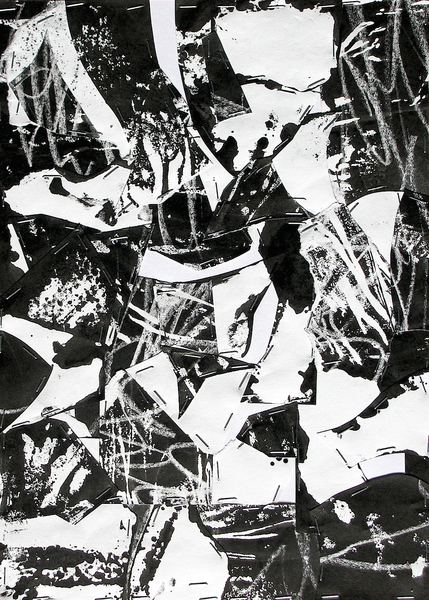Untitled (Sumi Collage No.7)