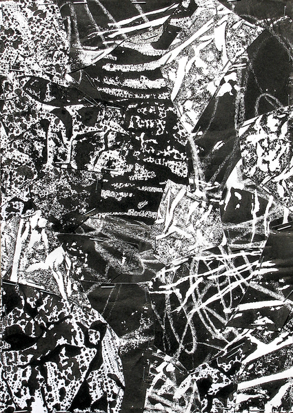Untitled (Sumi Collage No.8)