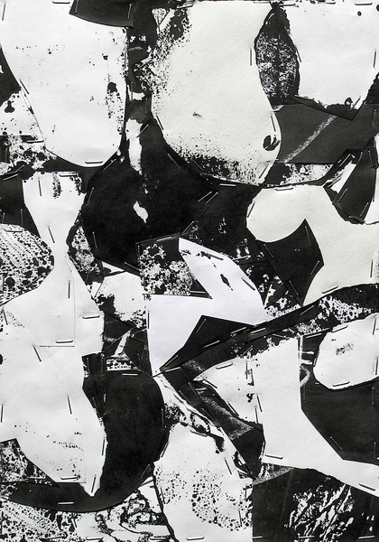 Untitled (Sumi Collage No.12)