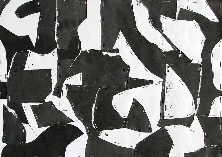 Untitled (Sumi Collage No.9)