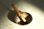 Aschenbecher und Zigarre