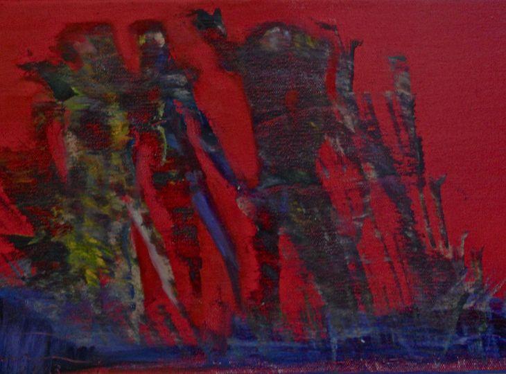 Happenstance figures  in red