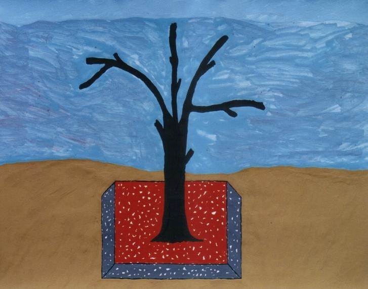 Gemälde-18-Plakatfarbe Format 42 cm x 52,4 cm
