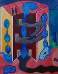 Gemälde-51-Plakatfarbe Format 42 cm x 52,4 cm
