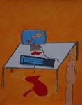 Gemälde-65-Plakatfarbe- auf Papier- Format 42 cm x 52,4 cm