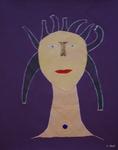 Gemälde-68-Plakatfarbe- auf Papier- Format 42 cm x 52,4 cm