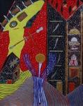 Gemälde-88-Plakatfarbe Format 42 cm x 52,4 cm