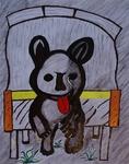 Gemälde-99-Plakatfarbe Format 42 cm x 52,4 cm