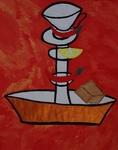Gemälde-104-Plakatfarbe Format 42 cm x 52,4 cm