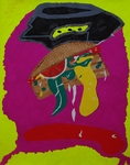 Gemälde-107-Plakatfarbe Format 42 cm x 52,4 cm
