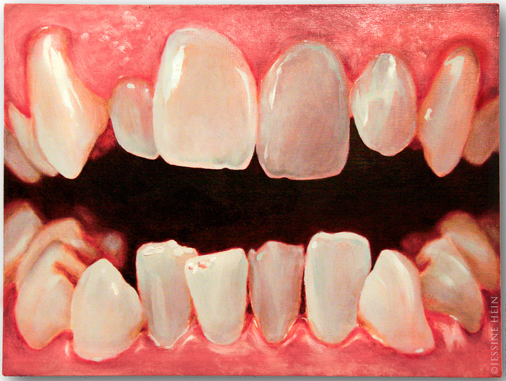 Jesus' teeth detail