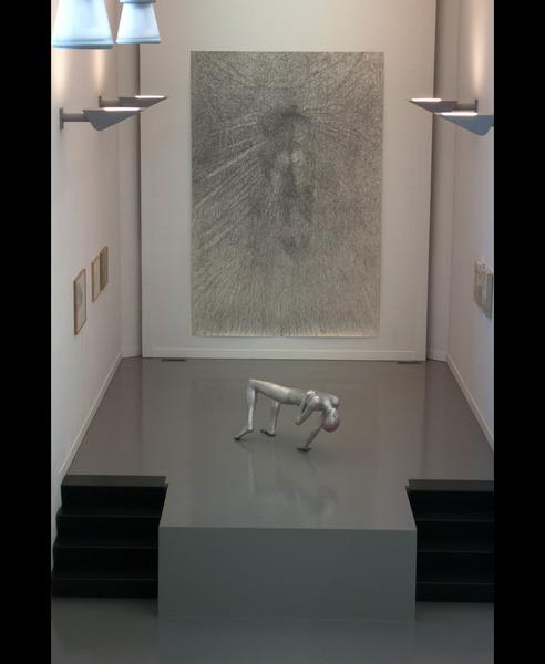 exhibition view of drawing in Kunstvereniging Diepenheim