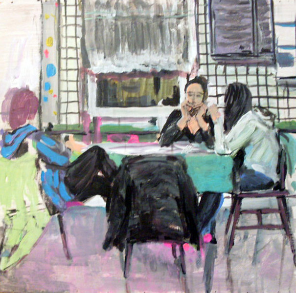 Girls at the table