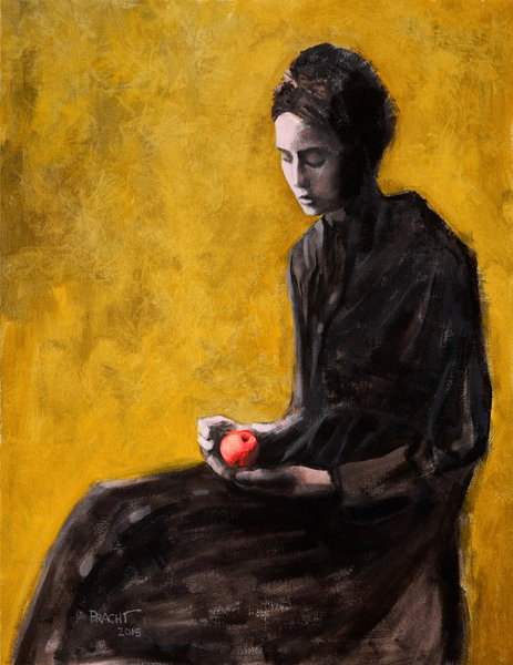 Woman Holding an Apple
