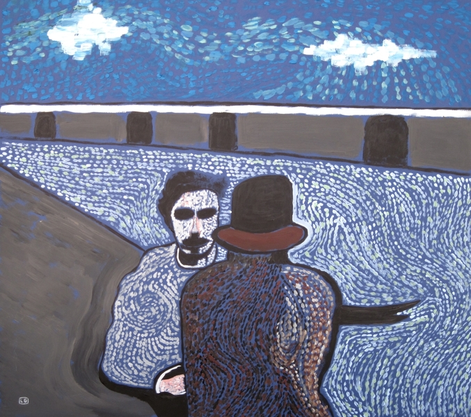 Study For Two Men On The Seine - Van Gogh and Émile Bernard