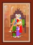 Egypt peasant family