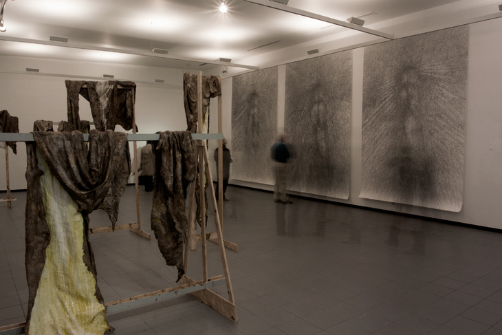 """""""exhibition view of drawings in SASK Sint Niklaas BE, 2015"""