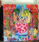 gay family paintings homosexual art raphhael perez homoerotic