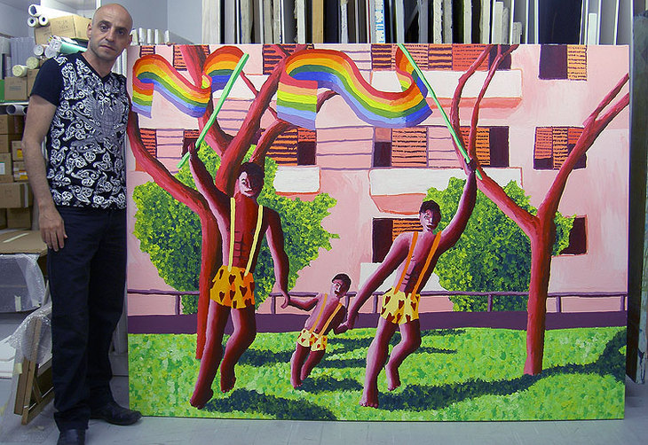 gay family paintings homosexual art raphhael perez homoerotic
