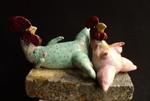 Temptation 2, ceramic sculpture