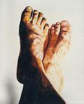 Realistic painting of feet realism art painting raphael perez