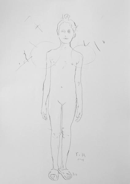 Kind, unbekleidet II