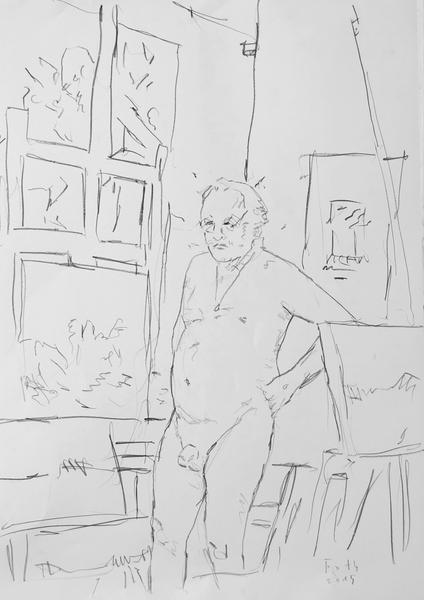 Selbst - der Künstler ist immer nackt, auch wenn er bekleidet wä