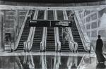 Escalators - charcoal on paper
