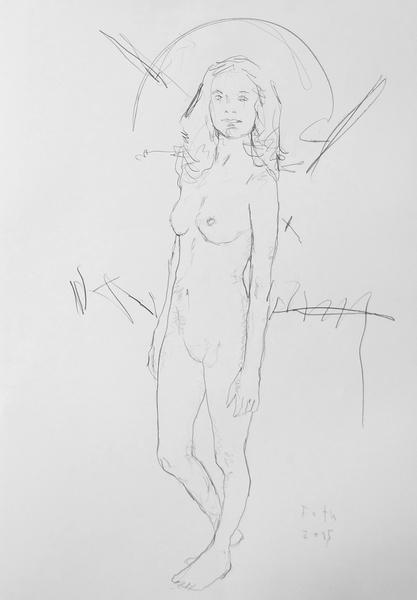 Zoé, Nacktheit im Atelier I