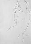 Studie zu weiblichem Rückenakt