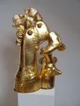 Golden anniversary, ceramic sculpture