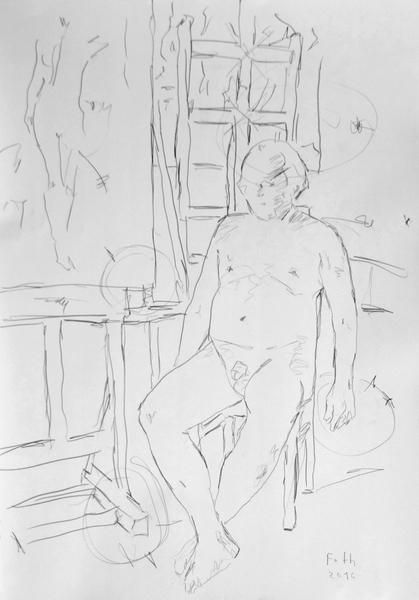 Selbst, Nacktheit im Atelier