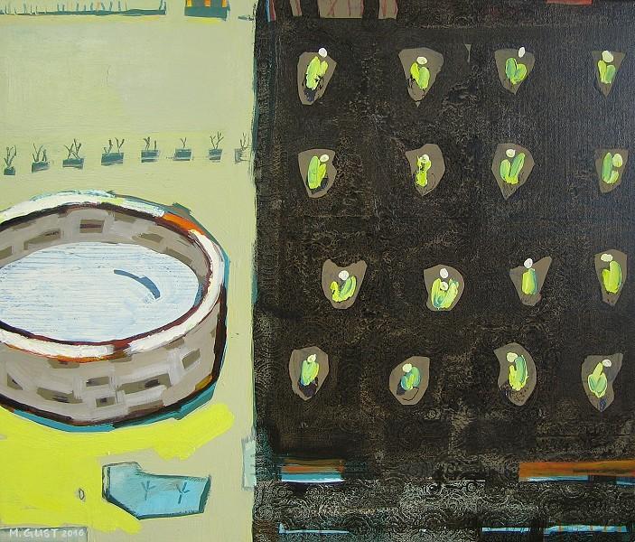 Beet und Brunnen